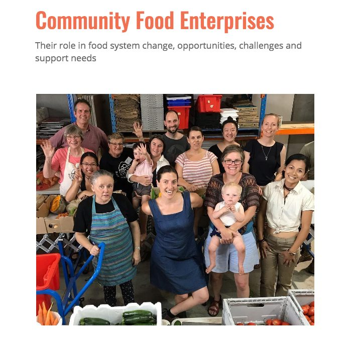 Community Food Enterprises report