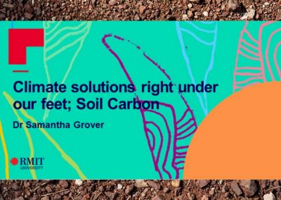 Soil Carbon: Climate solutions right under our feet